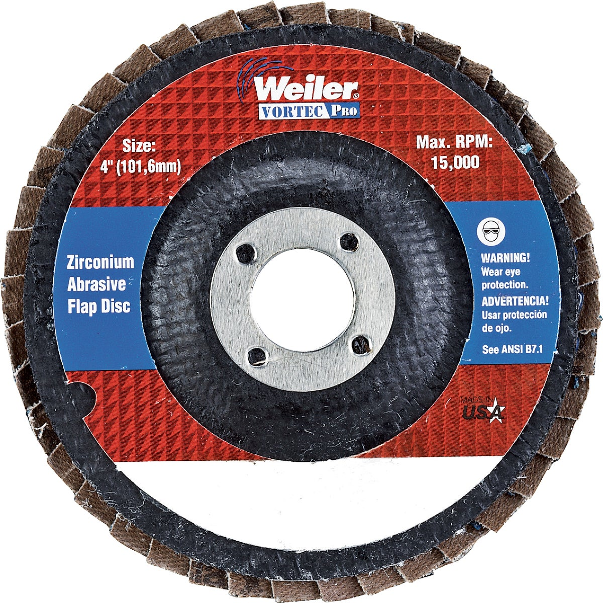 "4"" 36G FLAP DISC - 30822 by Weiler Corporation"