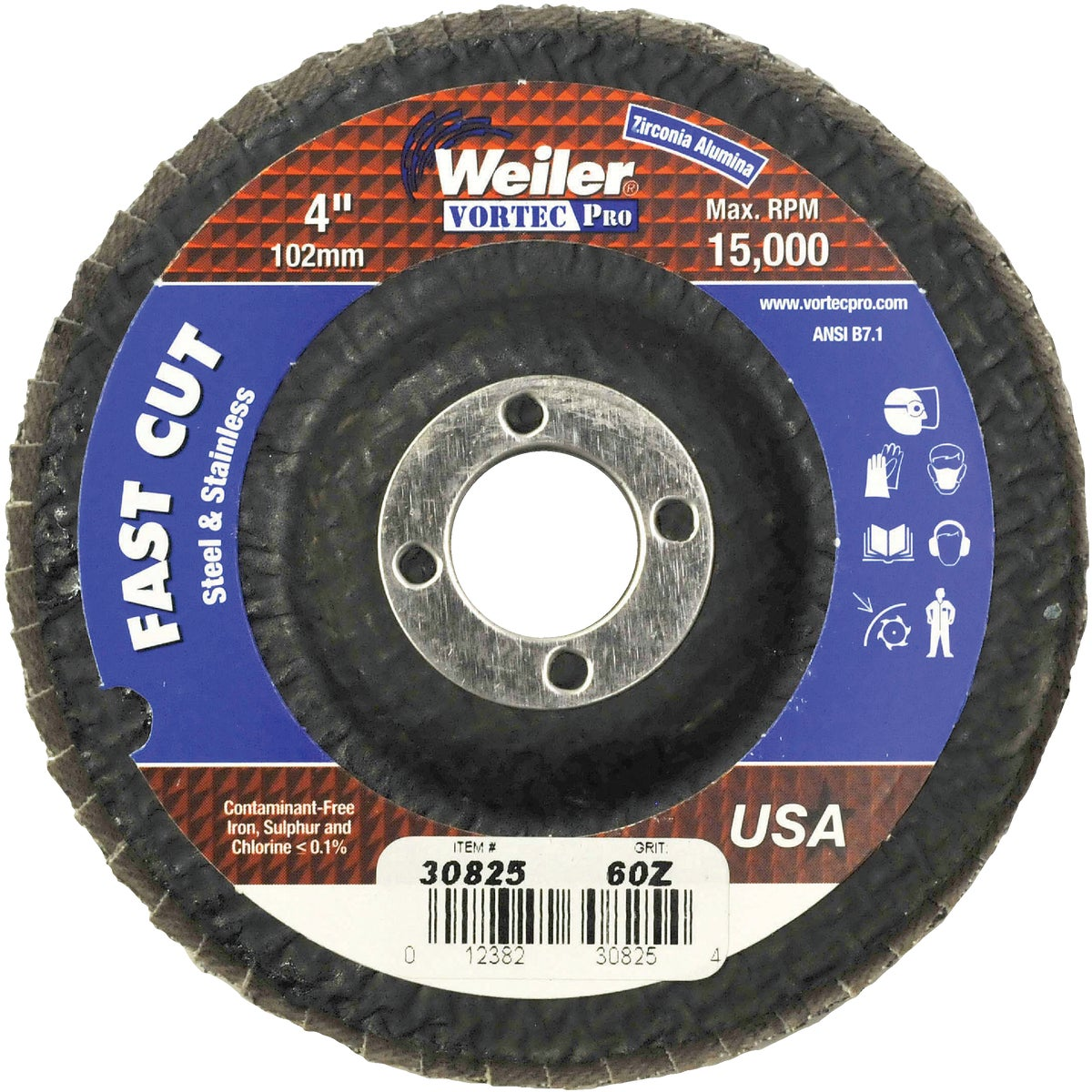 "4"" 60G FLAP DISC - 30825 by Weiler Corporation"