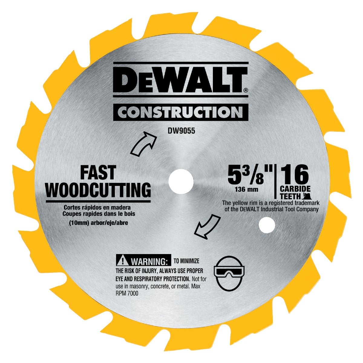 "5-3/8"" 16T CARBIDE BLADE - DW9055 by DeWalt"