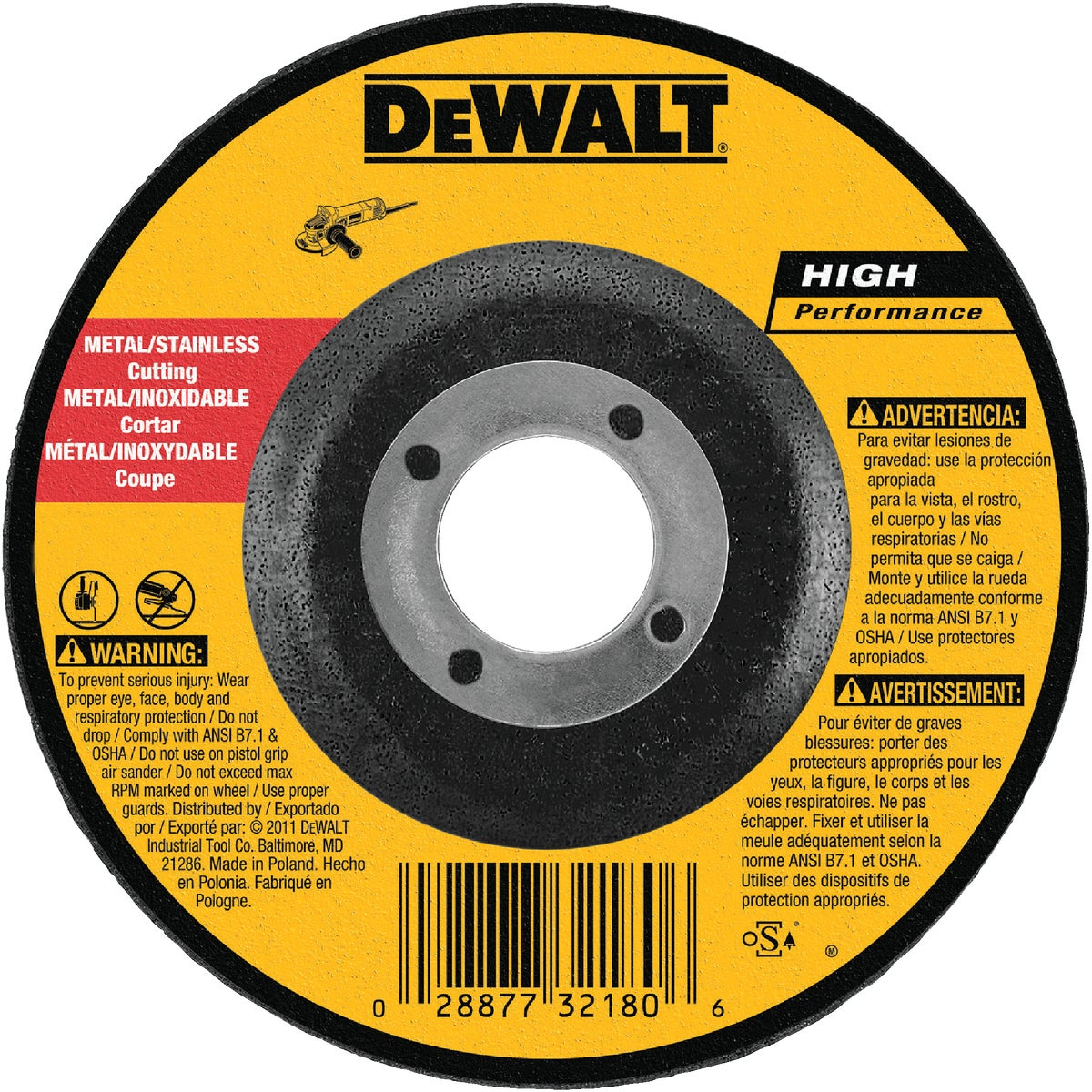 "4"" GRINDING WHEEL - DW8420 by DeWalt"