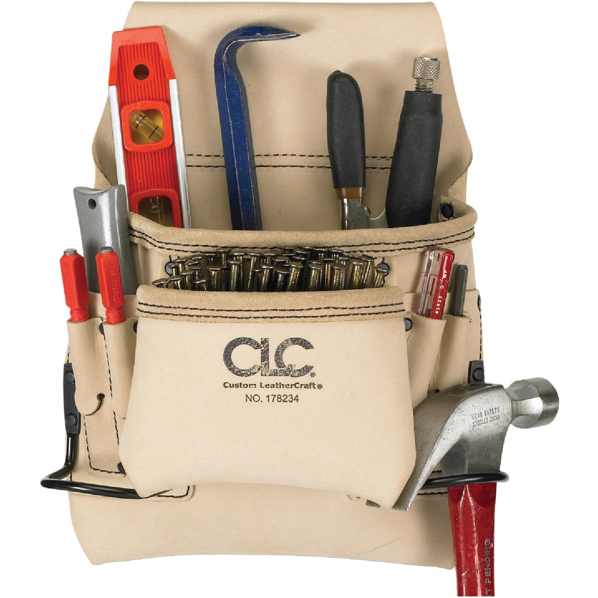 8-POCKET NAIL/TOOL BAG - 178234 by Custom Leathercraft