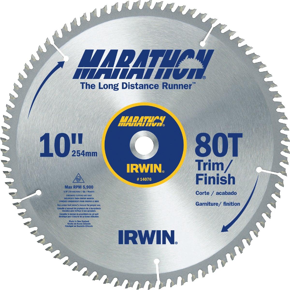 "10"" 80T MARATHON BLADE - 14076 by Irwin Industr Tool"