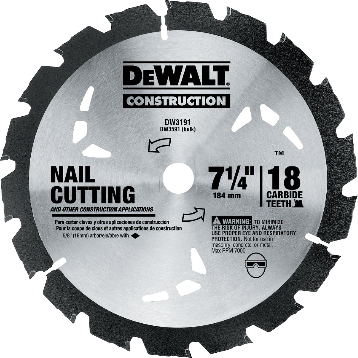 "7-1/4""ROCK CARBD BLADE - DW3191 by DeWalt"