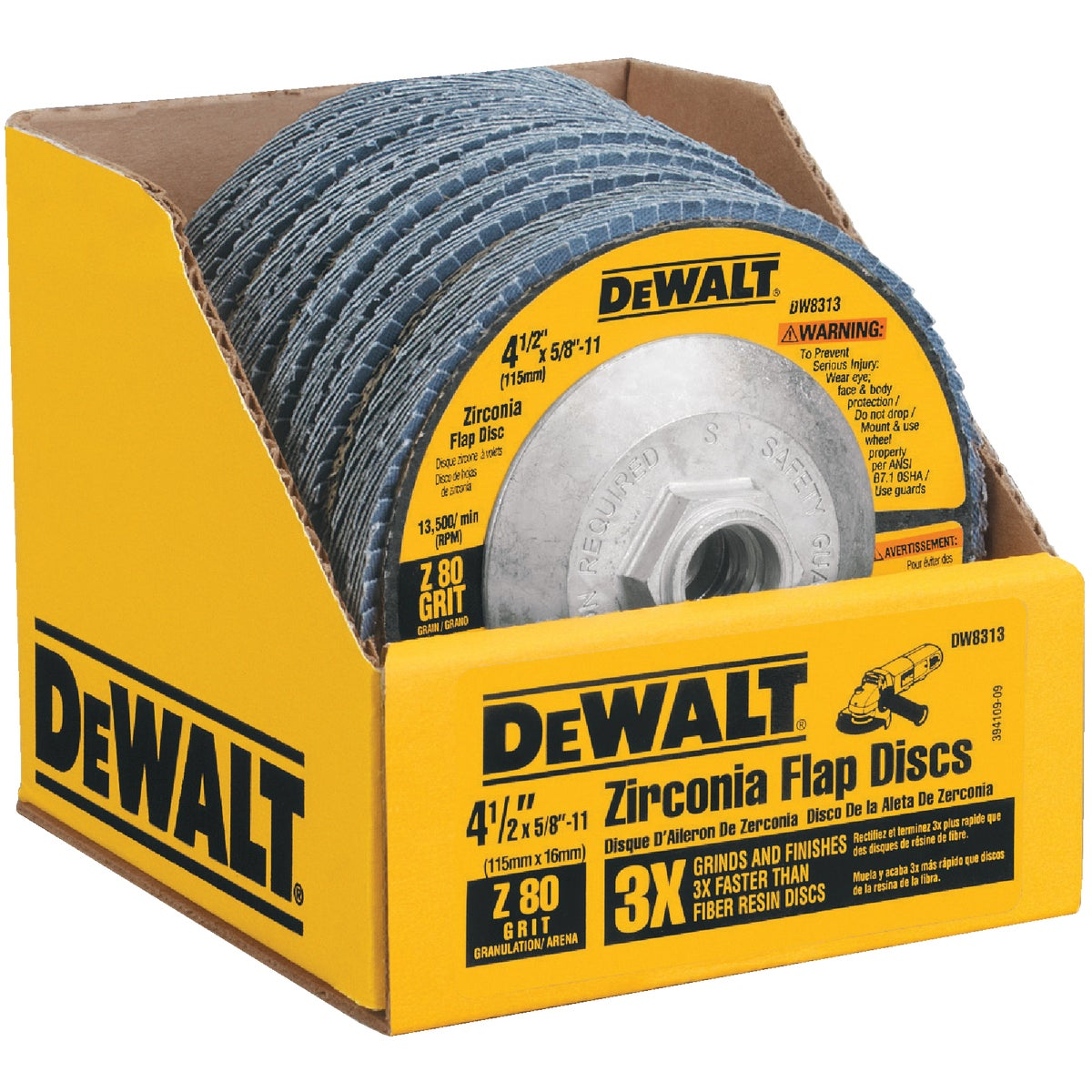"4-1/2"" 80G FLAP DISC - DW8313 by DeWalt"