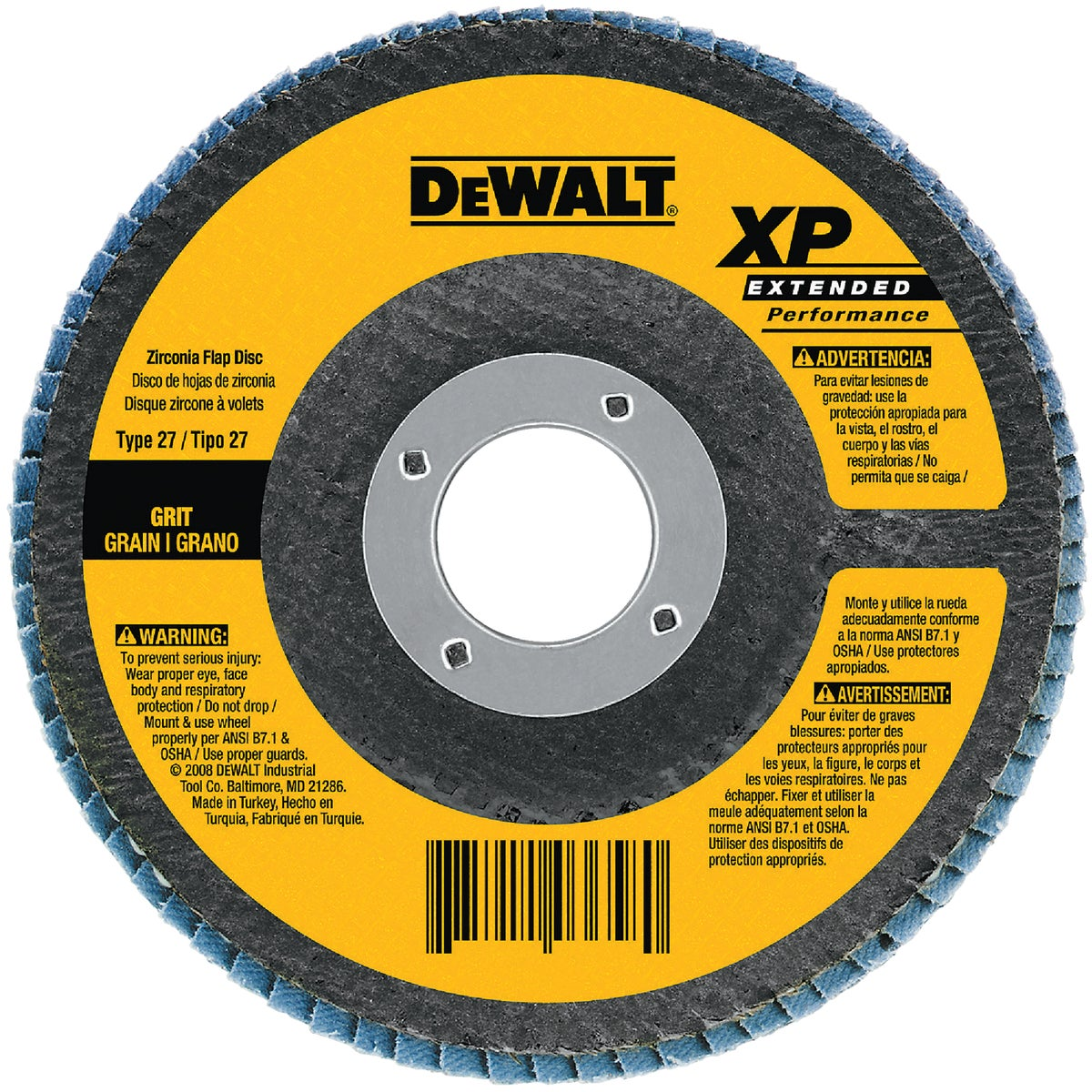 "4-1/2""60G ZRCN FLAP DISC - DW8312 by DeWalt"
