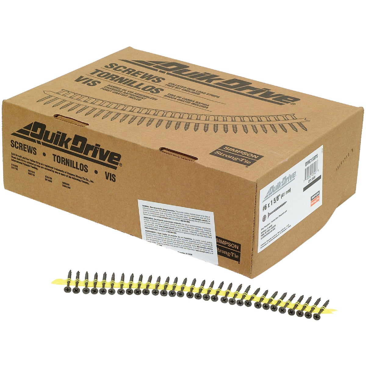 "1-5/8"" DRYWALL SCREW - DWC158PS by Simpson Strong Tie"