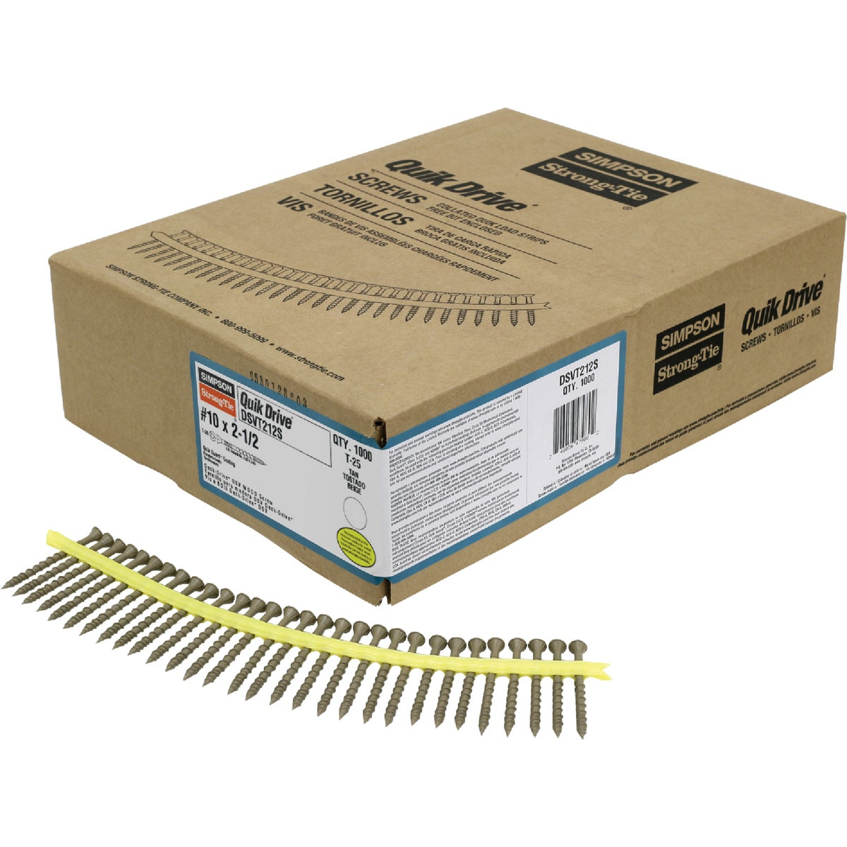 Quik Drive WSNTLG212S Deck and Dock 212-Inch Screws with N2000 Corrosion Prot...