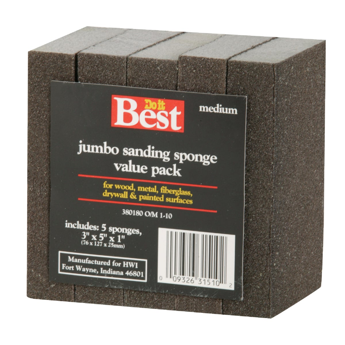 80G SANDING SPONGE - 380180 by Ali Industries Inc