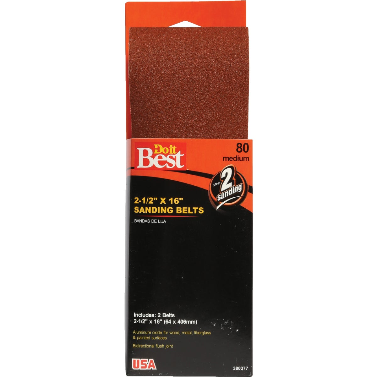 2-1/2X16 80G SAND BELT