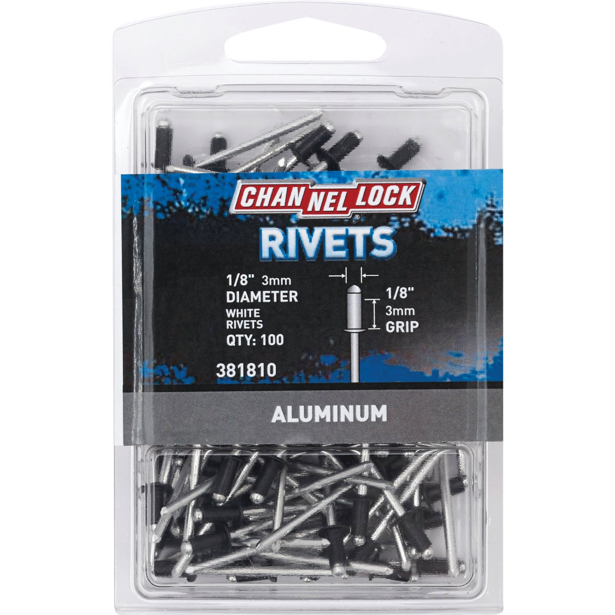 1/8X1/8 WHT ALUM RIVET - 381810 by Do it Best