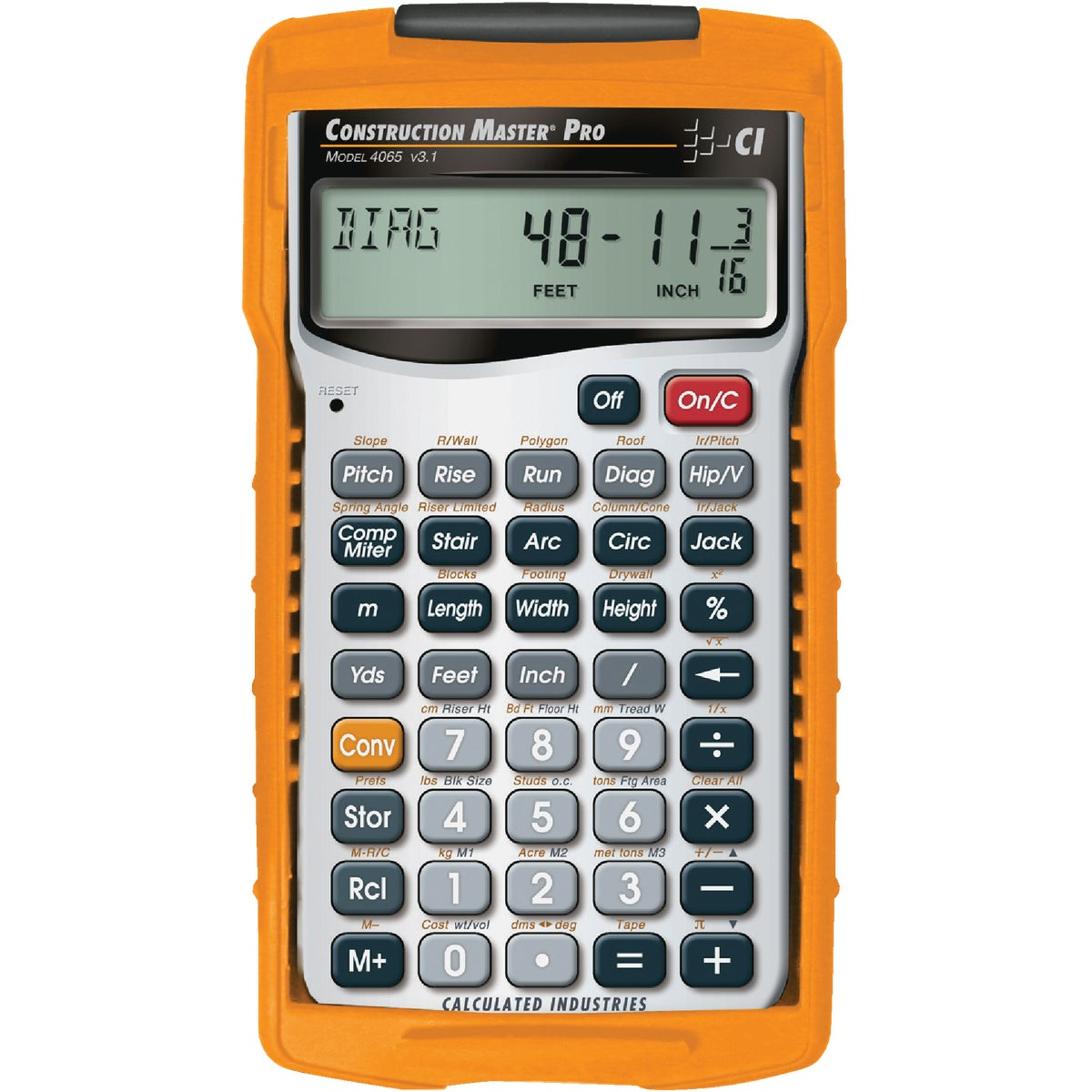 CONSTRUCTION CALCULATOR - 4065 by Calculated Ind