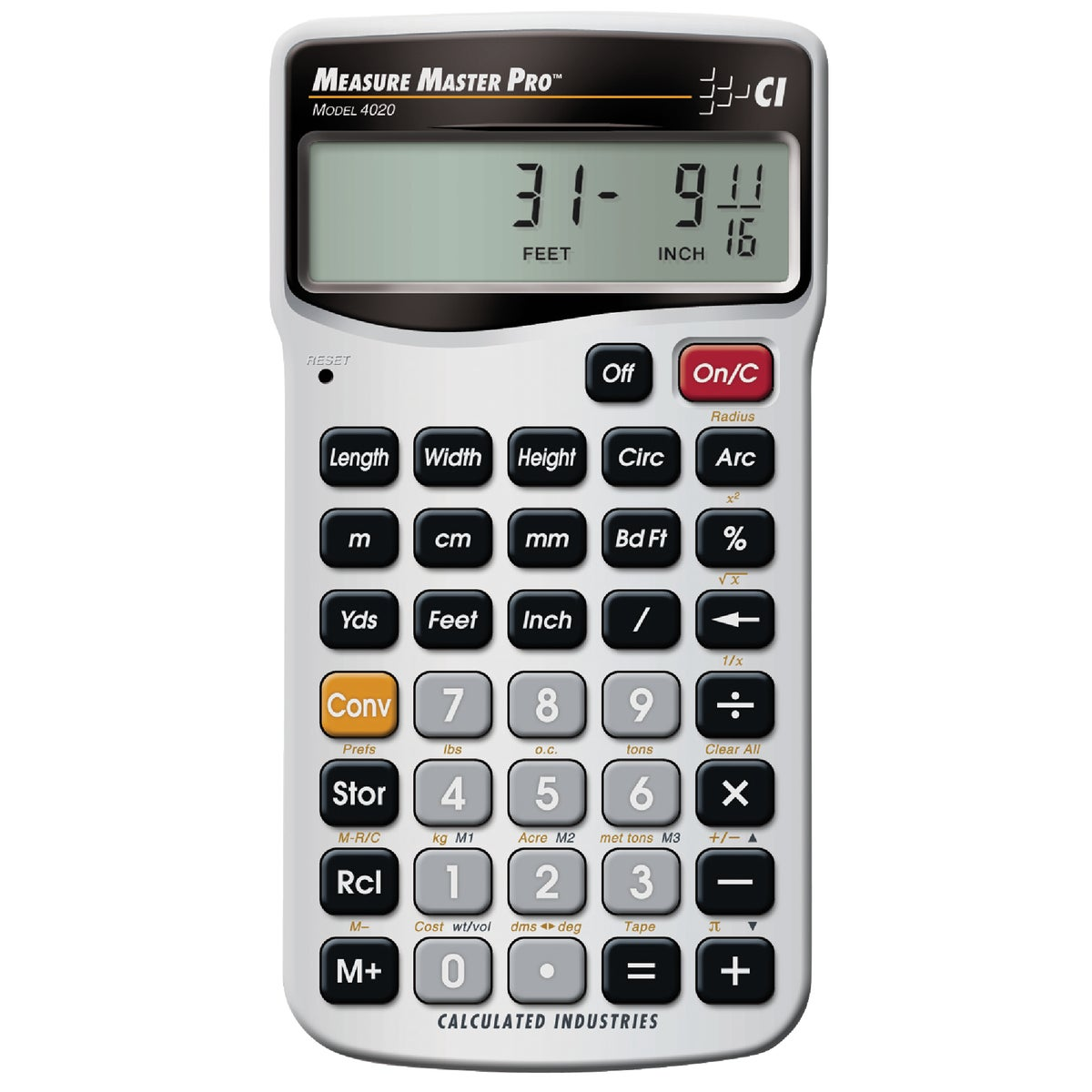 MEAS MSTR PRO CALCULATOR - 4020 by Calculated Ind