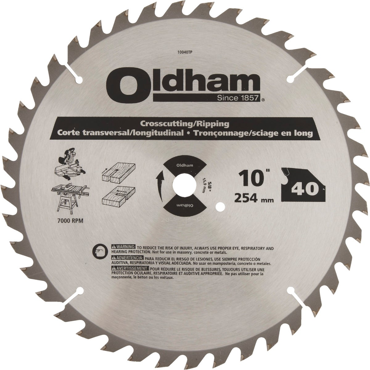 "10"" 40T SAW BLADE - 10040TP by DeWalt"