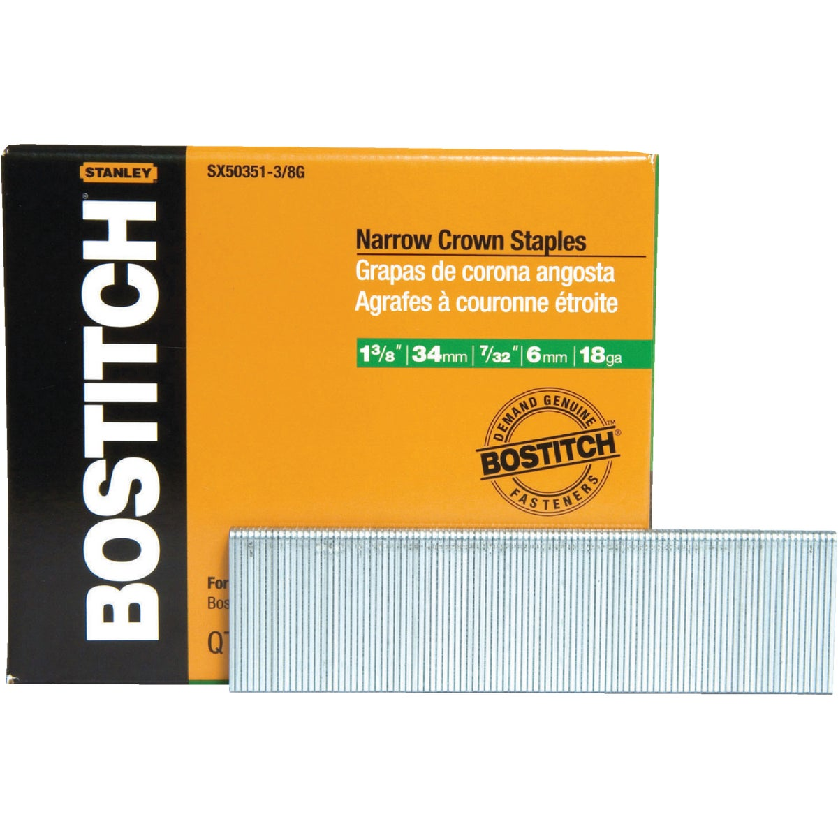 "1-3/8""GALV FINISH STAPLE - SX50351-3/8G by Stanley Bostitch"