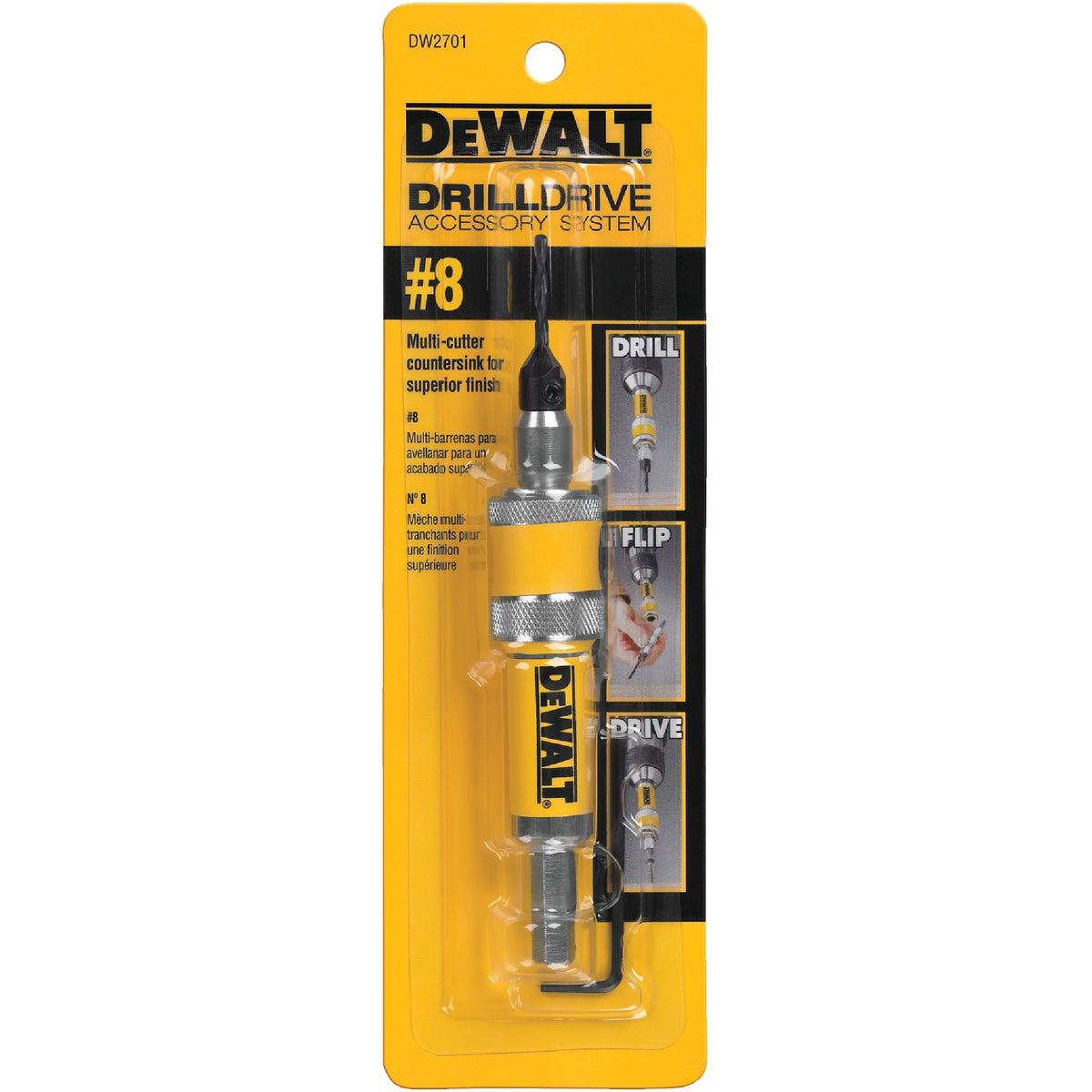 #8 DRILL/DRIVE BIT - DW2701 by DeWalt