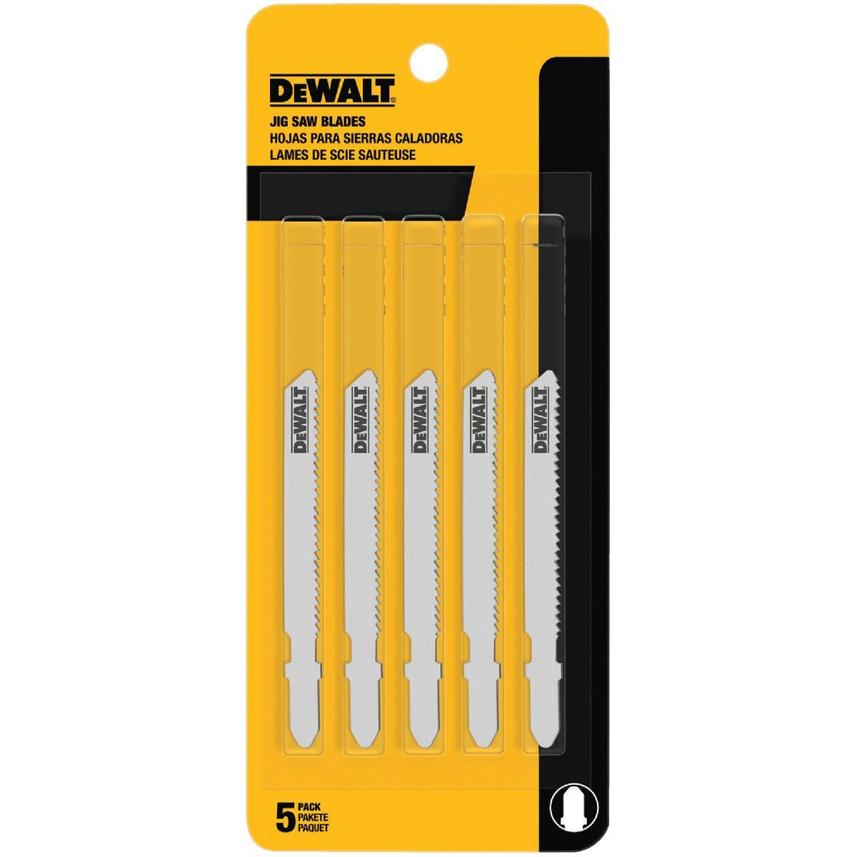 """5PK 3"""" 24T JIGSAW BLADE - DW3776-5 by DeWalt"""