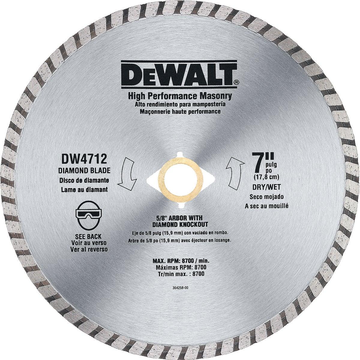 """7"""" HIPERF MASONRY BLADE - DW4712 by DeWalt"""