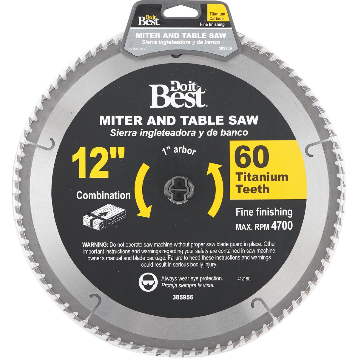"12"" 60T TITAN SAW BLADE - 415791DB by Mibro/gs"