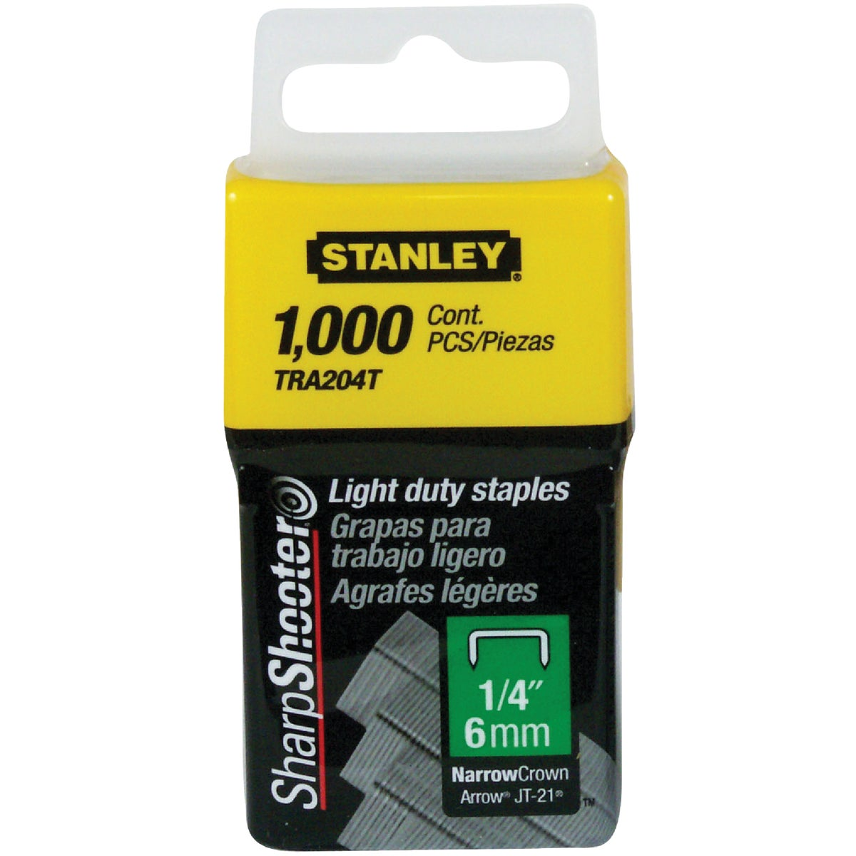 "1/4"" LIGHT DUTY STAPLE - TRA204T by Stanley Tools"