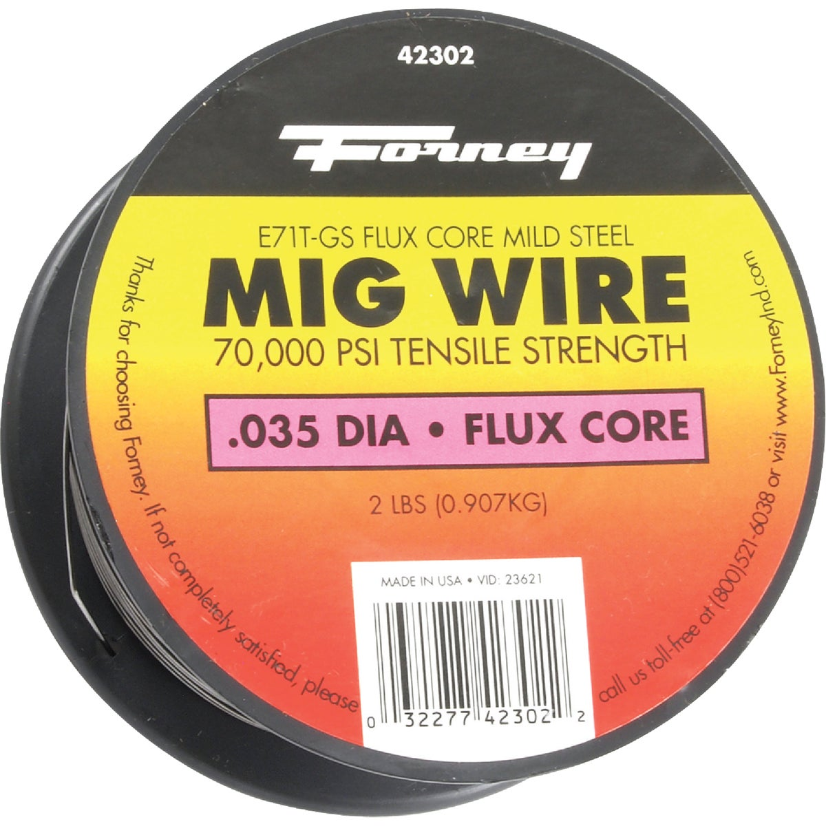 2LB .035 FLUX WIRE - 42302 by Forney Industries
