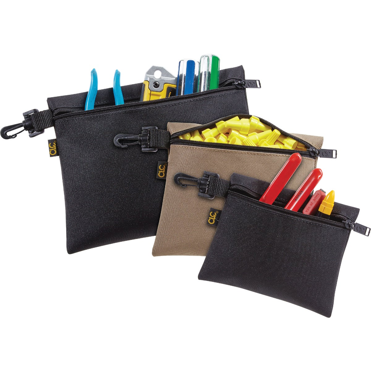 3-ZIPPED STORAGE BAGS