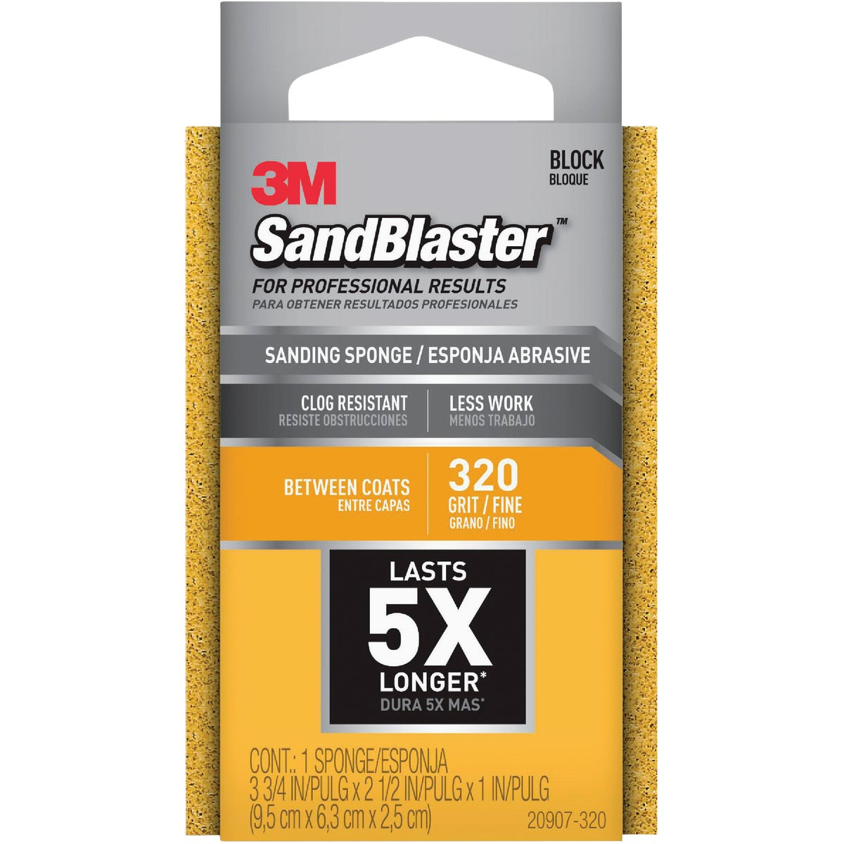 X-FINE SANDING SPONGE - 20907-320 by 3m Co