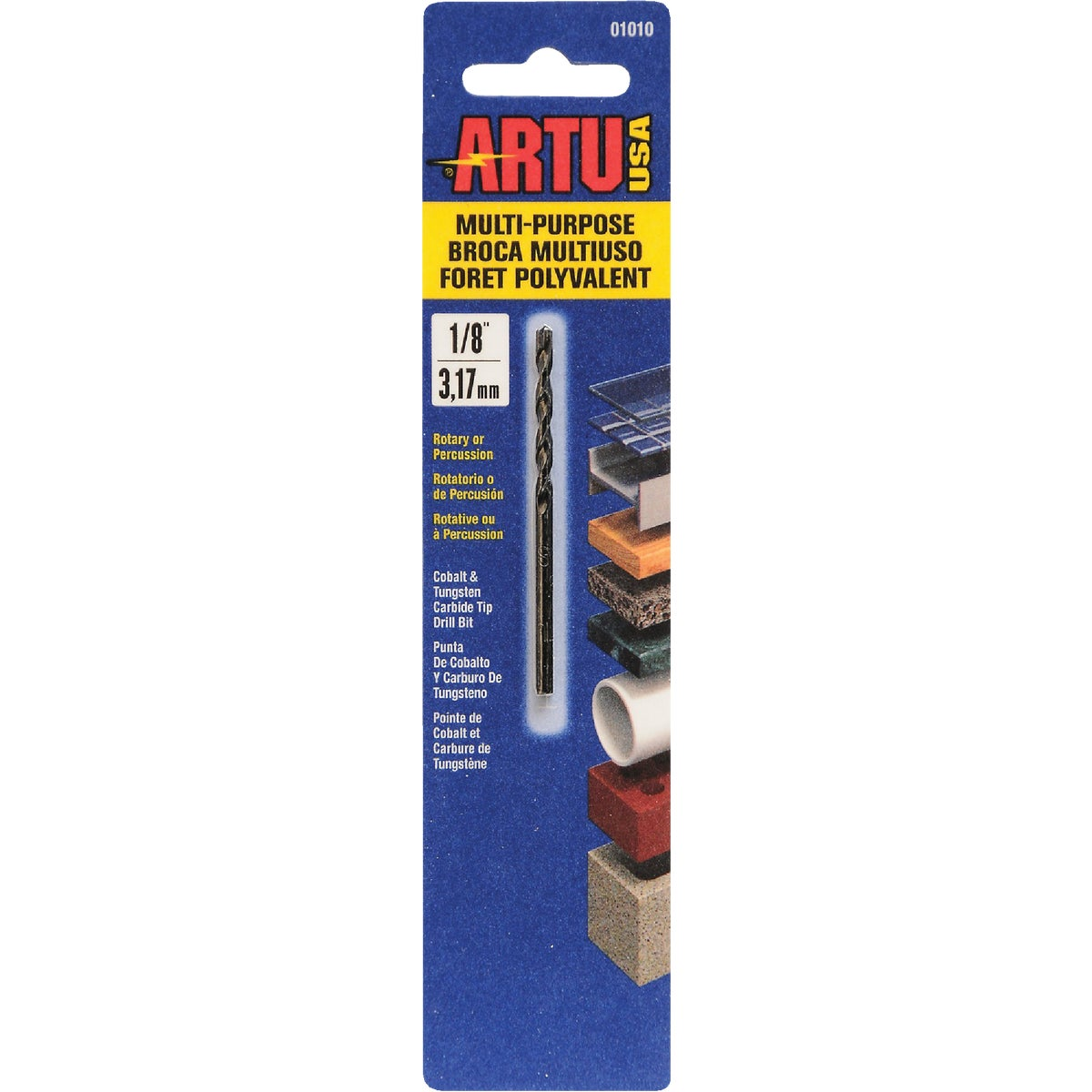 "1/8"" MULTIPURPOSE BIT - 01010 by Artu Usa Inc"