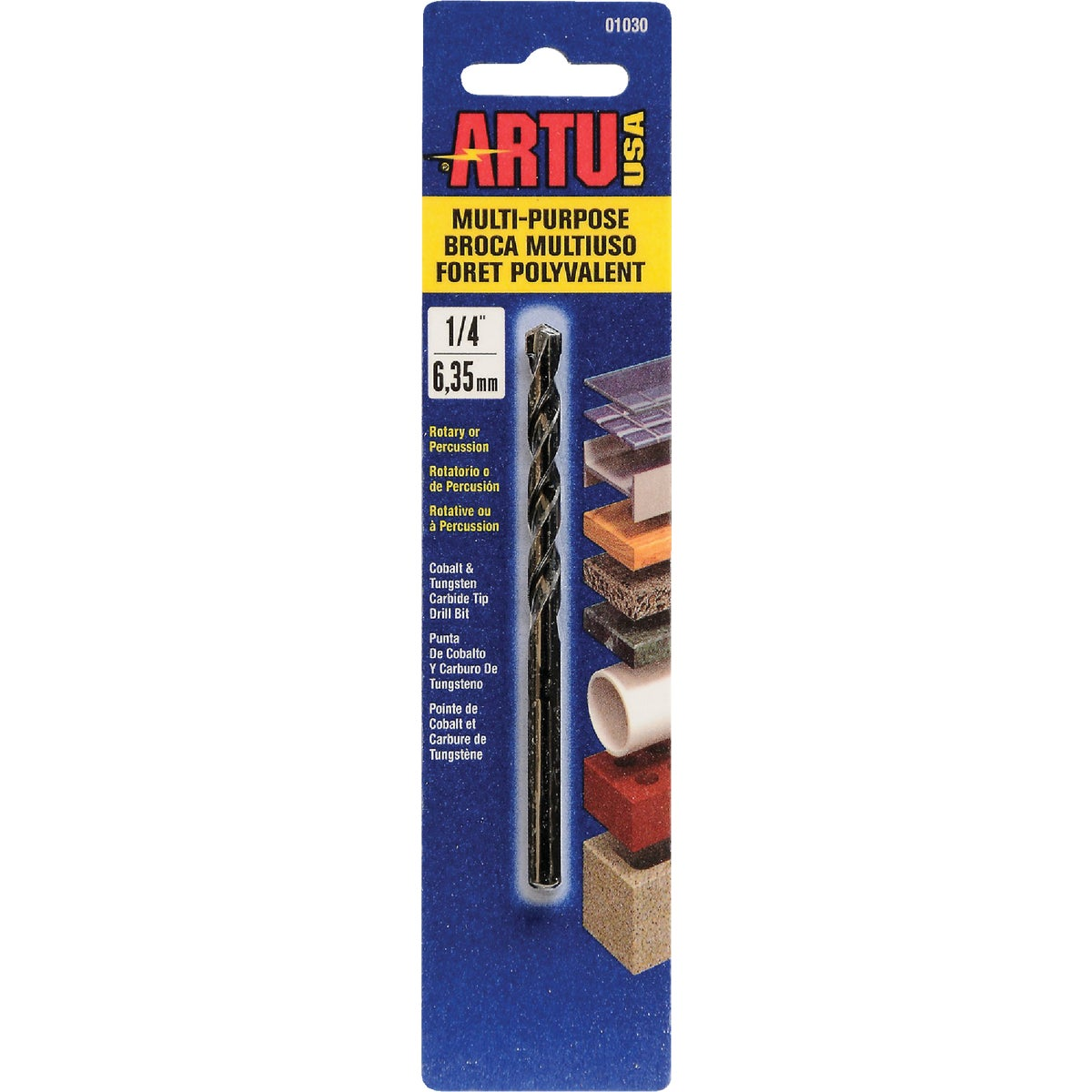 "1/4"" MULTIPURPOSE BIT - 01030 by Artu Usa Inc"