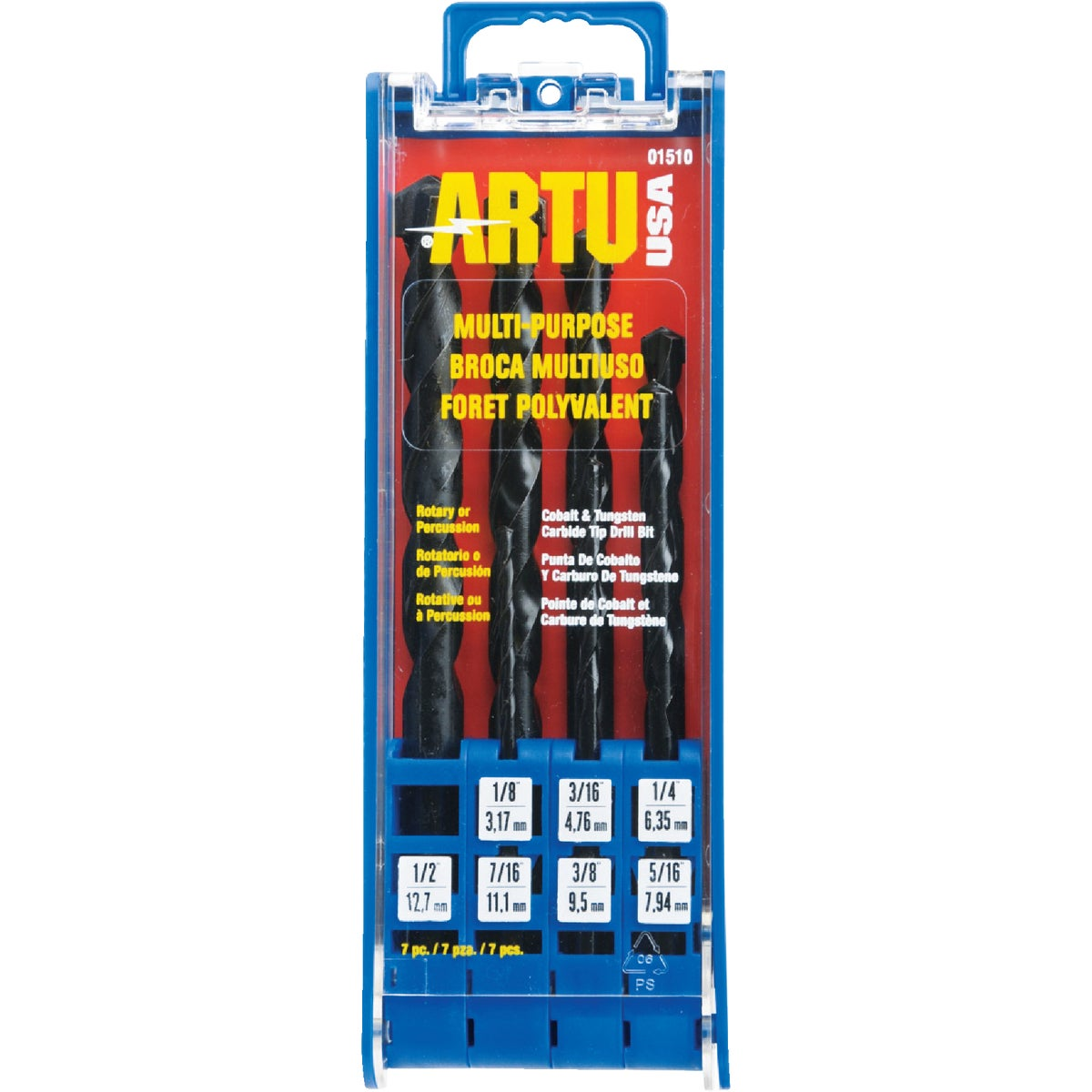 7PC DRILL BIT SET - 01510 by Artu Usa Inc