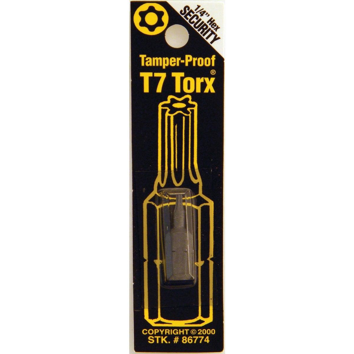 T7 TMPR SECURITY BIT - 86774 by Bwt Inc
