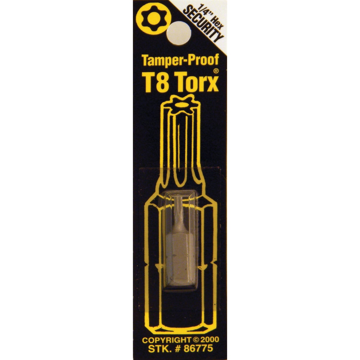 T8 TMPR SECURITY BIT - 86775 by Bwt Inc