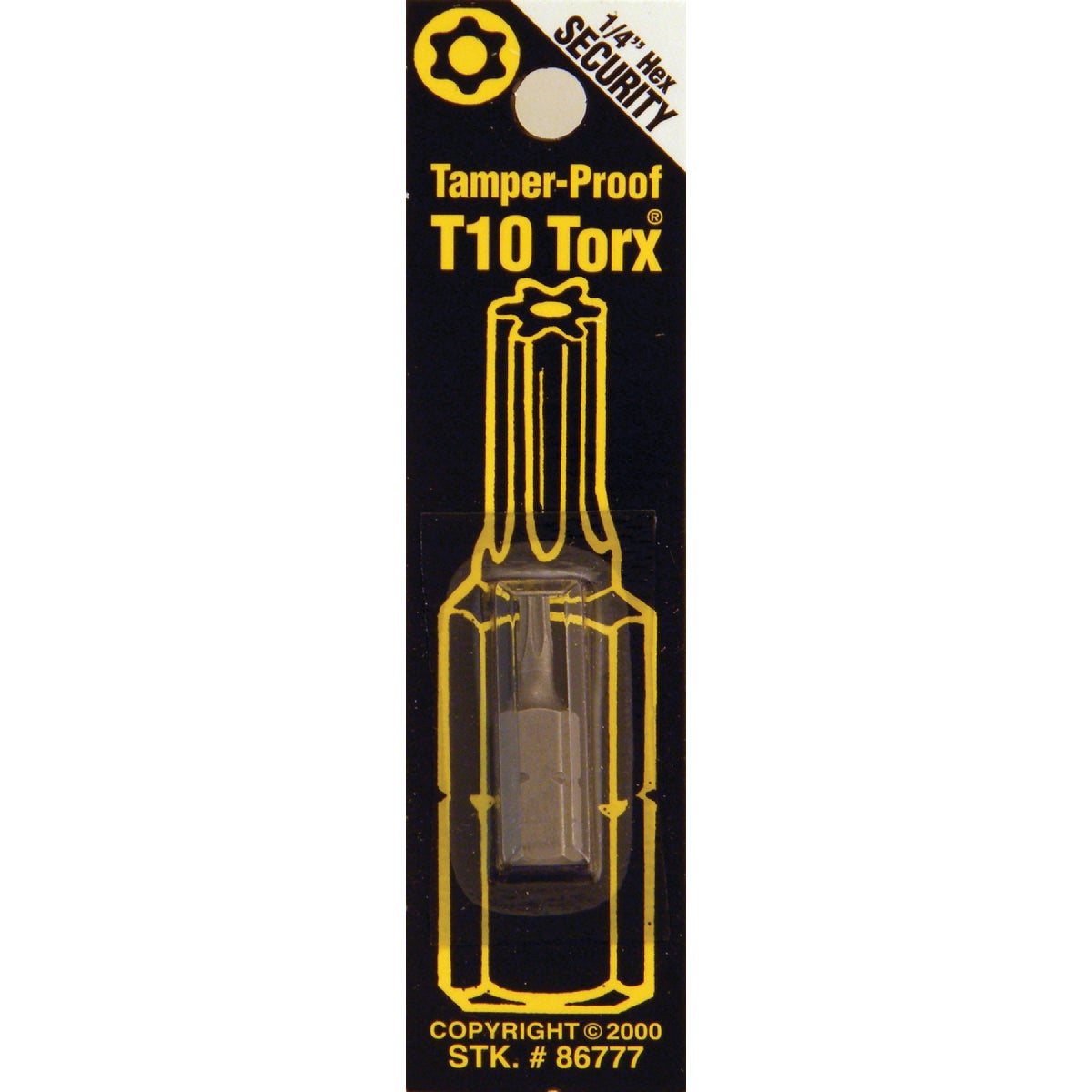 T10 TMPR SECURITY BIT - 86777 by Bwt Inc