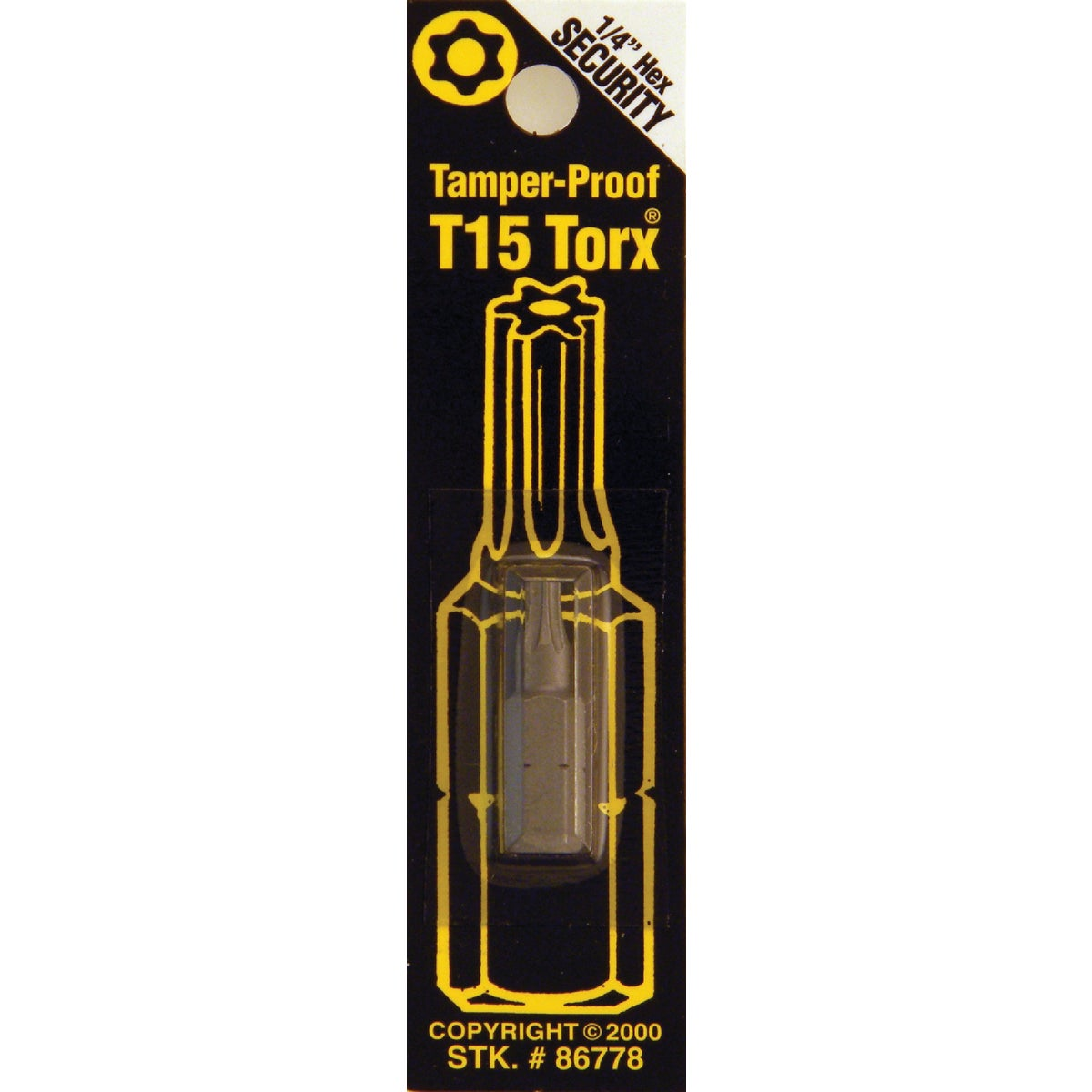 T15 TMPR SECURITY BIT - 86778 by Bwt Inc