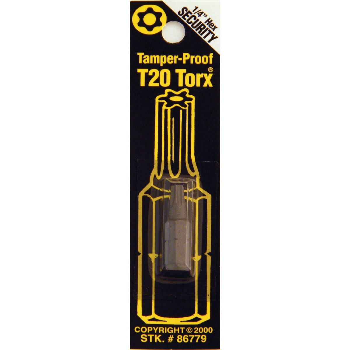 T20 TMPR SECURITY BIT - 86779 by Bwt Inc