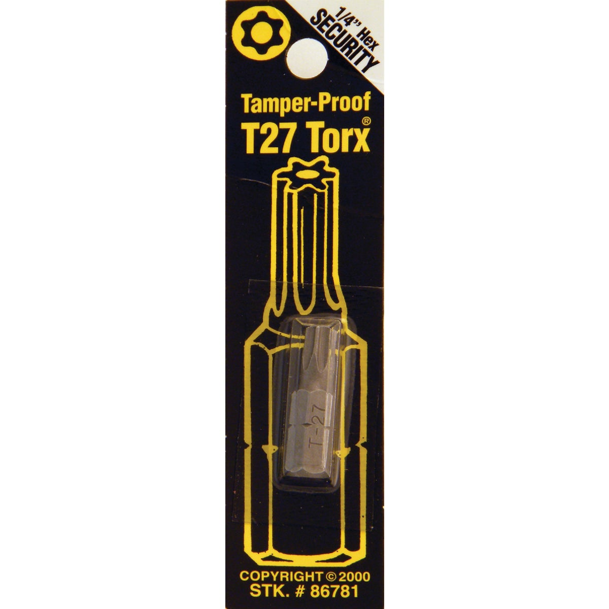 T27 TMPR SECURITY BIT - 86781 by Bwt Inc