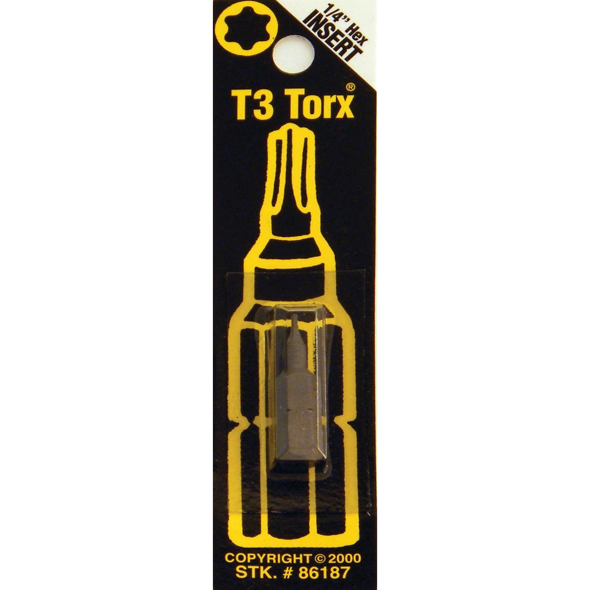 T3 TORX SECURITY BIT - 86187 by Bwt Inc