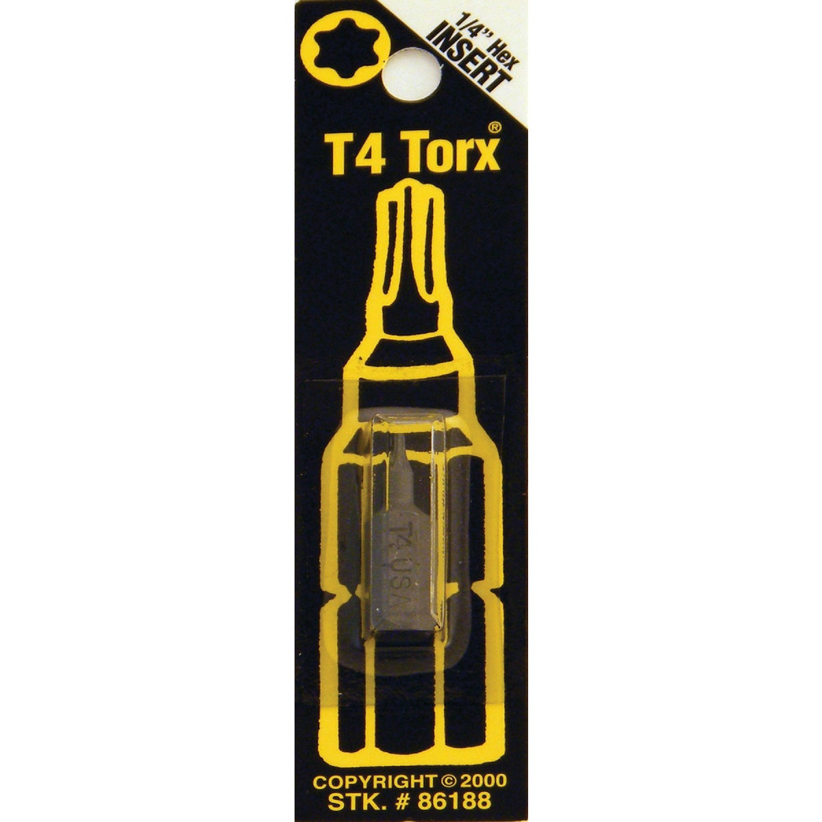 T4 TORX SECURITY BIT - 86188 by Bwt Inc
