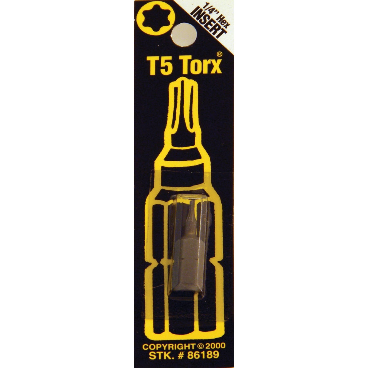 T5 TORX SECURITY BIT - 86189 by Bwt Inc