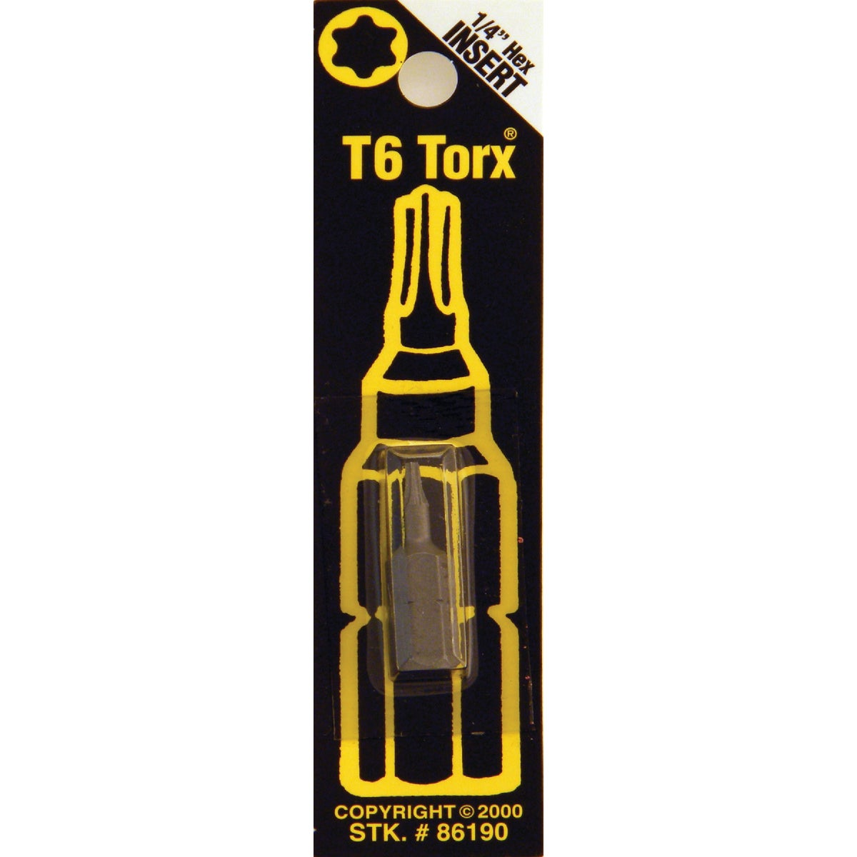 T6 TORX SECURITY BIT - 86190 by Bwt Inc