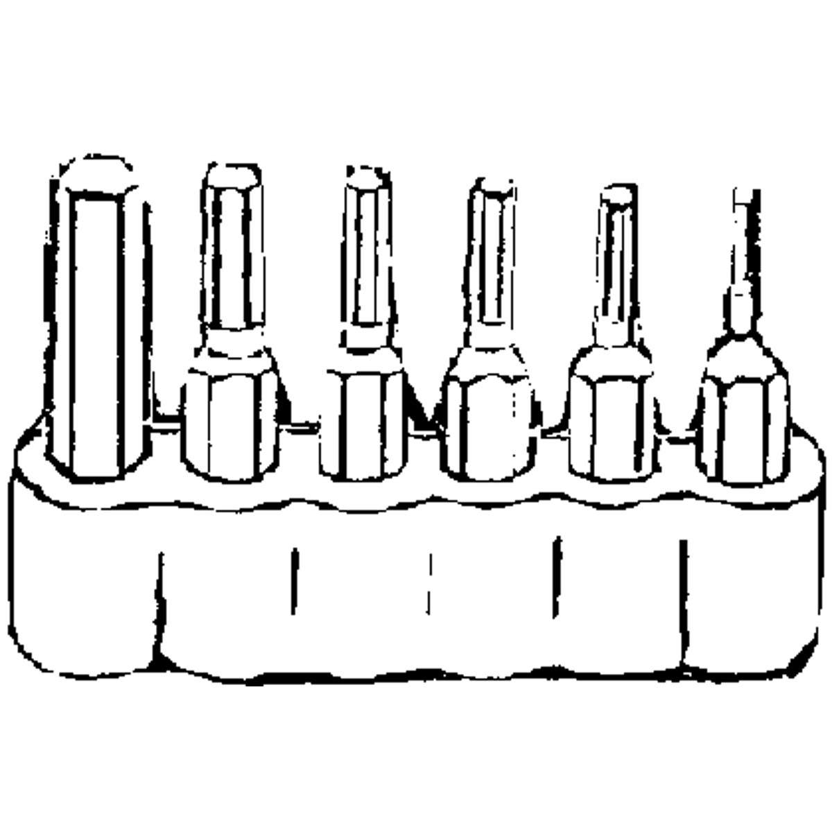 6Pc Hex Bit Set
