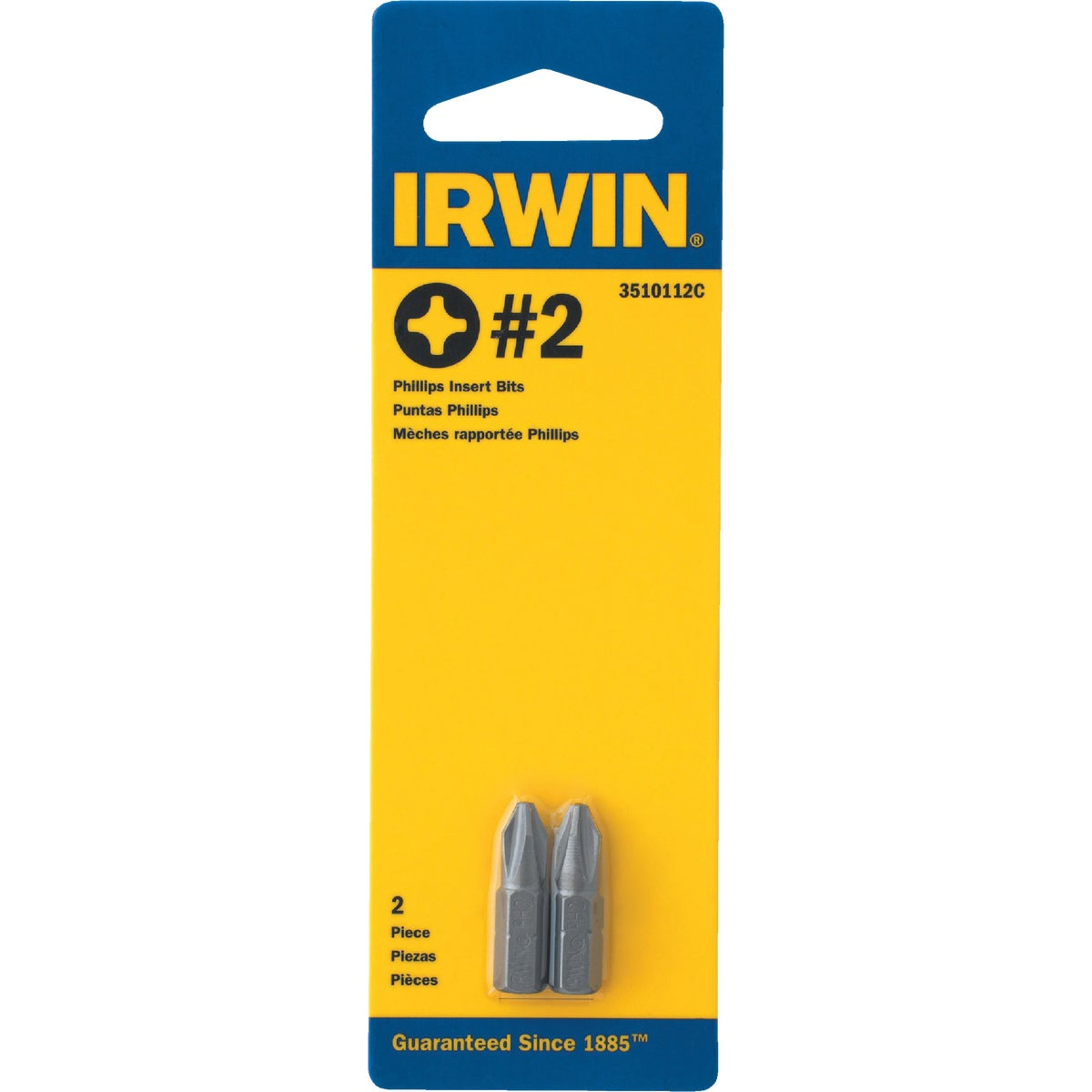 #2 2/CD PHILPS SCREW BIT - 3510112C by Irwin Industr Tool