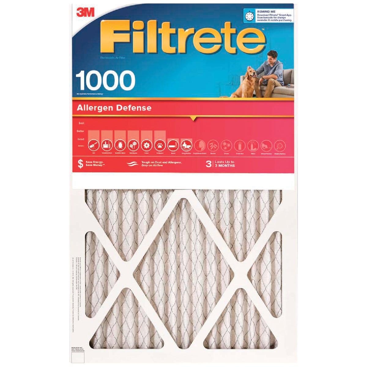 3M Filtrete 14 In. x 24 In. x 1 In. Allergen Defense 1000/1085 MPR Furnace Filter