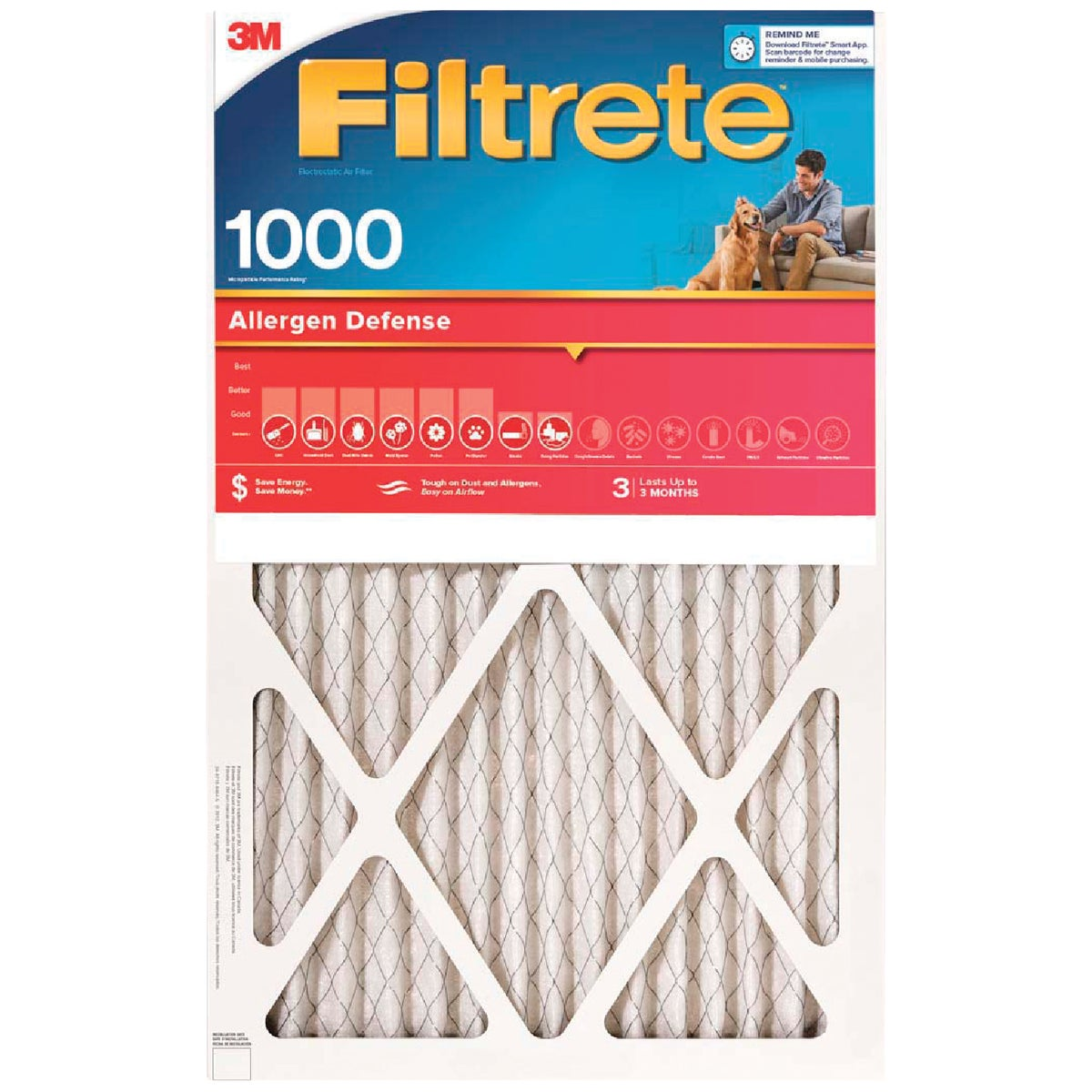 14X24X1 ALLERGEN FILTER - 9823DC-6 by 3m Co