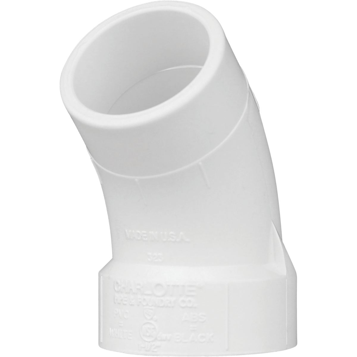 "1-1/2""45D SAN STRT ELBOW - 72716 by Genova Inc  Pvc Dwv"