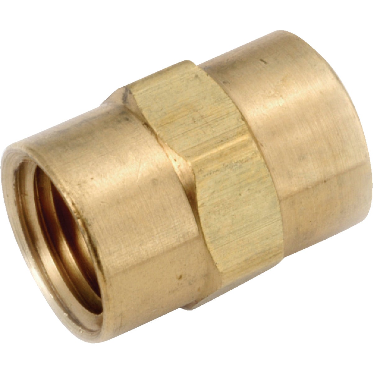 1/2 COUPLING YLW BRASS - 756103-08 by Anderson Metals Corp