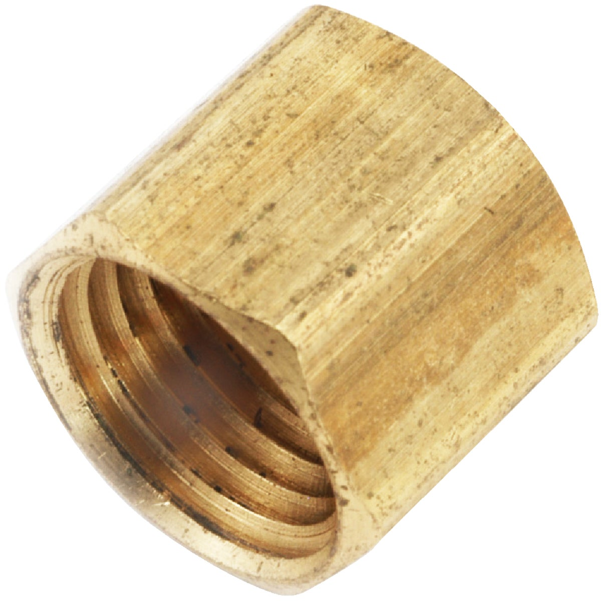 3/8 FIP YLW BRASS CAP - 756108-06 by Anderson Metals Corp