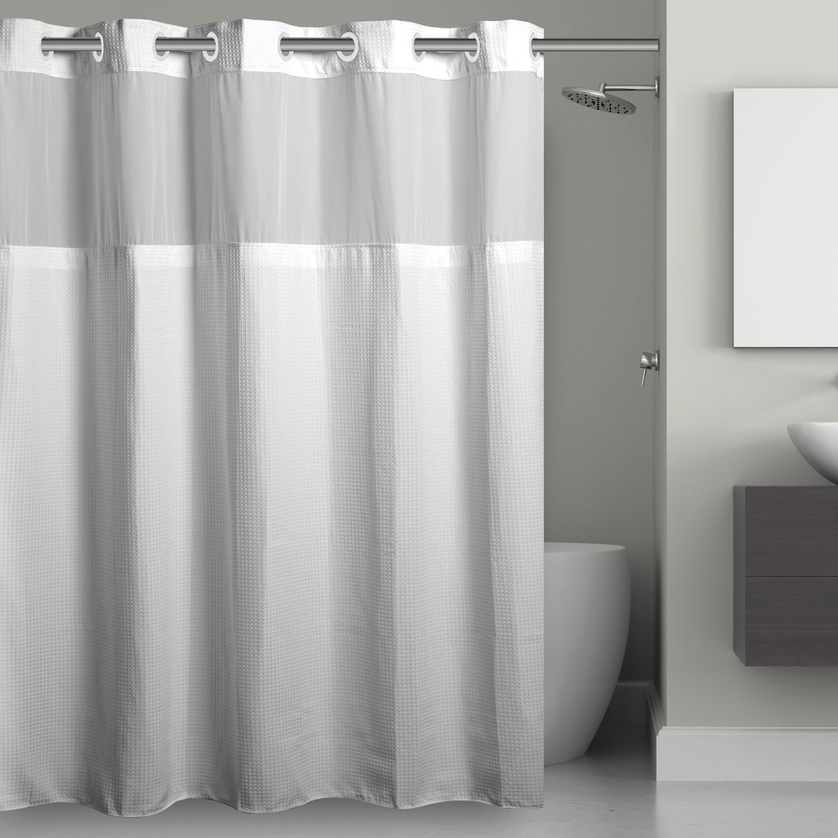 HOOKLESS SHOWER CURTAIN - RBH40MY843 by Swing A Way Mfg Co