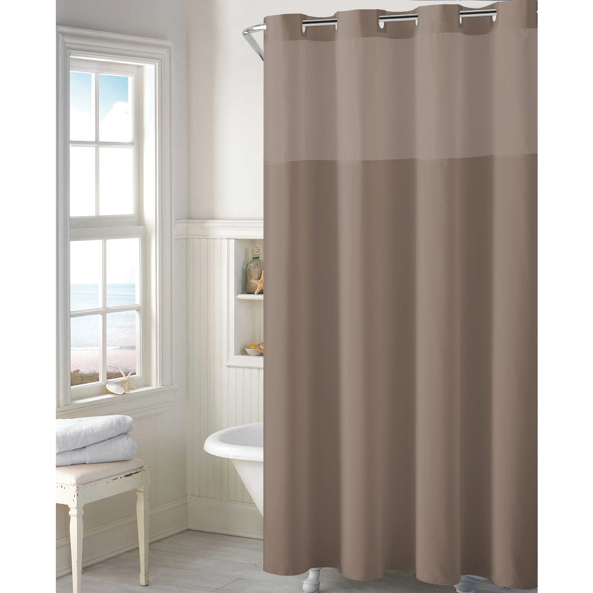 HOOKELSS SHOWER CURTAIN - RBH40MY303 by Swing A Way Mfg Co