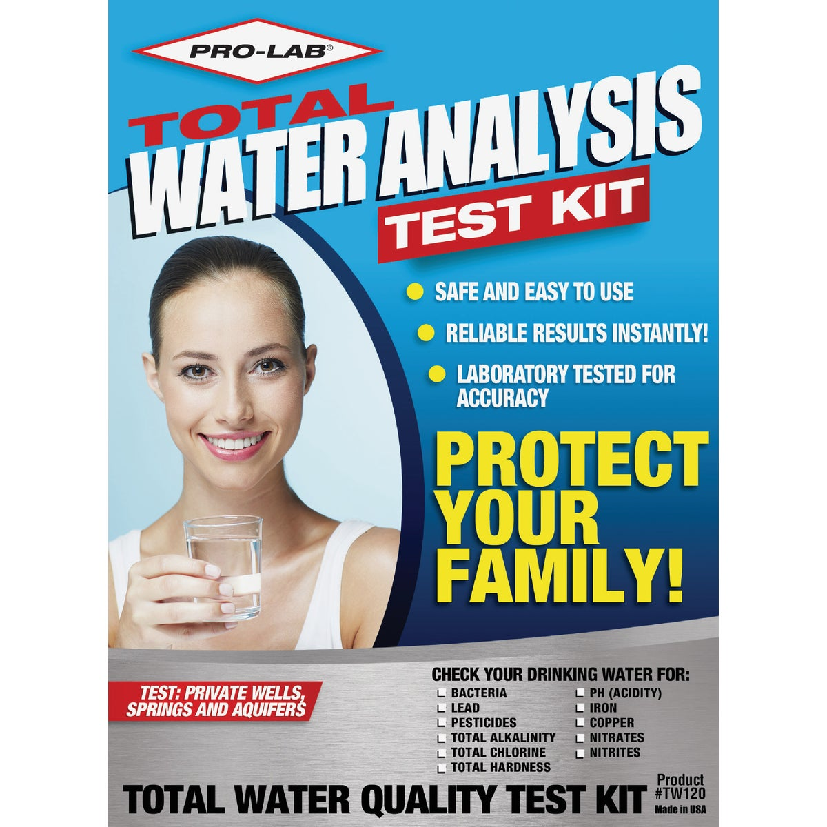 TOTAL WATER QUALITY KIT - TW120 by Pro Lab Inc