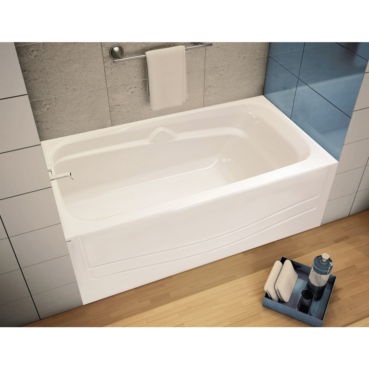 WHITE LH SOAKING TUB